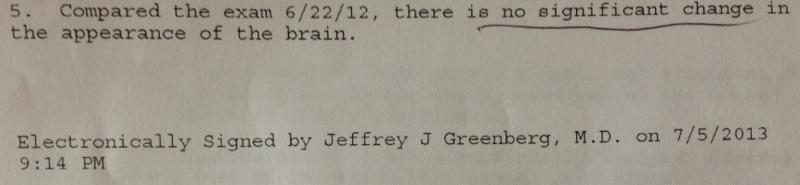 Radiology Report, Excerpt